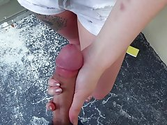 Flaming POV in outdoor with sweet Piper June