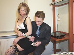 Nice palmy student with puffy pussy Felicia C gets fucked be proper of money