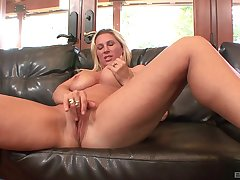 Beauteous MILF bombshell Devon Lee rides dick and gets missionary fucked