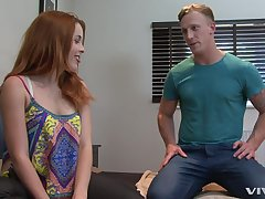 Amarna Miller screams from delight while her collaborate fucks her badly