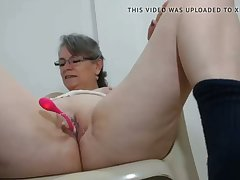 horny milf has will not hear of first vibrator on cam in will not hear of pussy