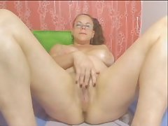 Webcam colombian granny milf teasing part 2 no sound - imlivefreecams (dot) com