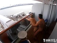 Sex on burnish apply balcony