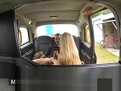 British stockinged cabbie cockriding after bj
