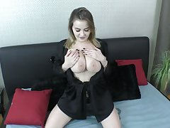 Ample breasted cooky Sweets Alexa gives a blowjob coupled with titjob nearby hot POV scene