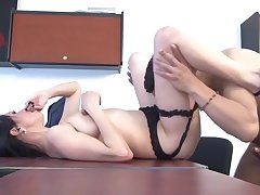 Santa Latina - Pitch-dark Latina enjoys a hardcore fuck and 69