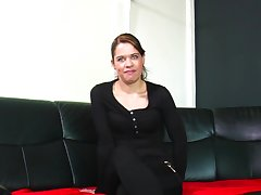 Being alone thersitical hooker uses a dildo for polishing her wet pussy