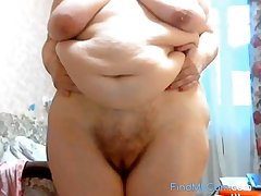 GILF Stefany Description with big fat belly