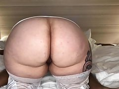 sBBW with regard to homemade interracial porn show with cumshot