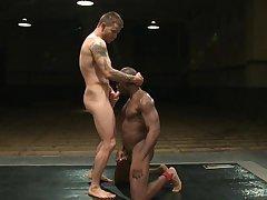 Husky gay man fucks inky dude in the ass
