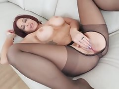 Doyen milf with big special gets fucked and amateur anal bondage Ryder