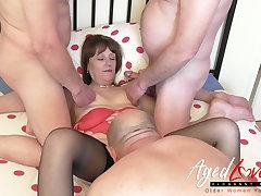 AgedLovE British Mature and One Cocks Groupsex