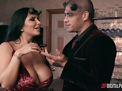 Hardcore group sex with pornstars Gina Valentina and Romi Rain