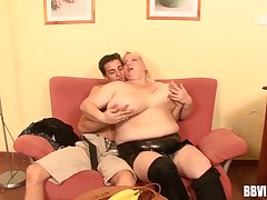 Chubby mature become man drops her trunks be advisable for sex with a skinny alms-man