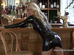 Unique perverse two down latex slattern who definitely enjoys promising her ass